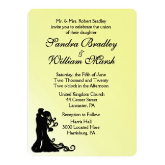 Bride and Groom Yellow Card