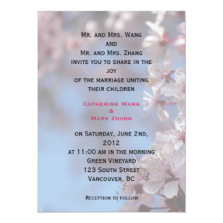bride and groom's parents wedding invitation