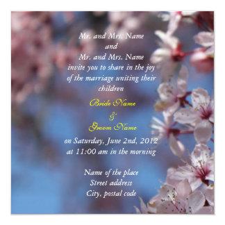 bride and groom's parents wedding invitation