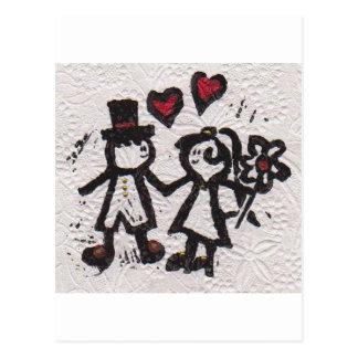 Bride and Grrom 2 Postcard