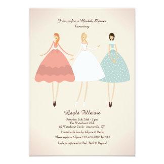 Bride and Her Attendants Invitation