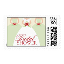 Bride and Her Bridesmaids Postage Stamps (mint)