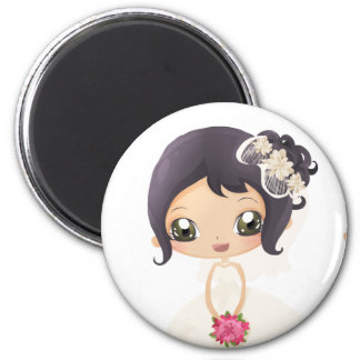 Bride and Maid of Honor 2 Inch Round Magnet