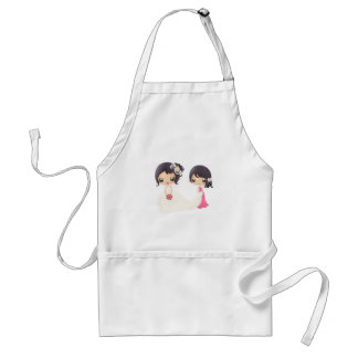 Bride and Maid of Honor Adult Apron