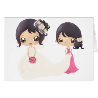 Bride and Maid of Honor Greeting Card