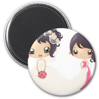 Bride and Maid of Honor Magnet