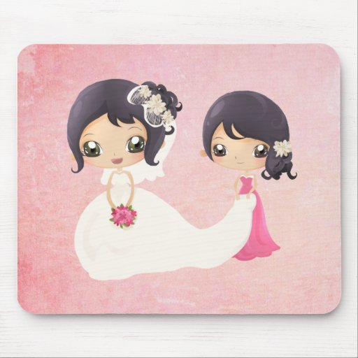 Bride and Maid of Honor Mousepad