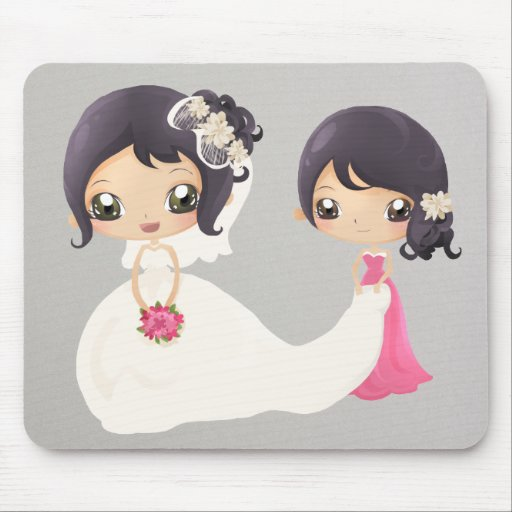 Bride and Maid of Honor Mousepads