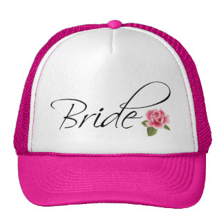 Bride and Rose Calligraphy Trucker Hat