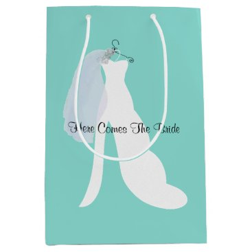 Bride And Veil Here Comes The Bride Gift Bag