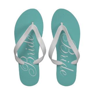 Bride {aqua} Flip-Flops