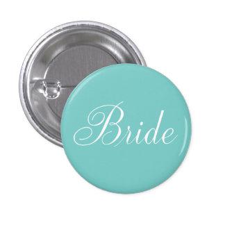 Bride {aqua} pinback button