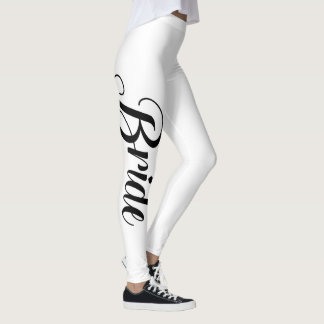 Bride Bachelorette Party Elegant Leggings