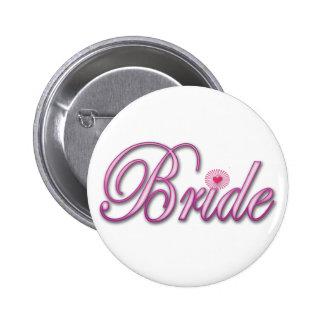 bride bachelorette wedding bridal shower party pinback button