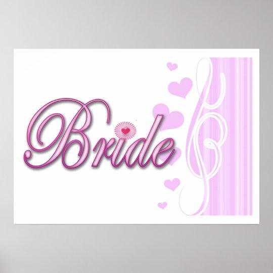 bride bachelorette wedding bridal shower party poster