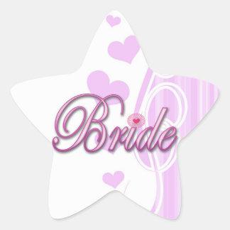 bride bachelorette wedding bridal shower party star sticker