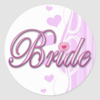 bride bachelorette wedding bridal shower party sticker