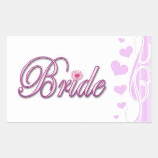 bride bachelorette wedding bridal shower party rectangular sticker