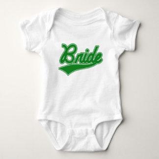 Bride (Baseball Script Green) Baby Bodysuit