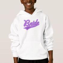 Bride (Baseball Script Purple) Hoodie