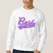 Bride (Baseball Script Purple) Sweatshirt