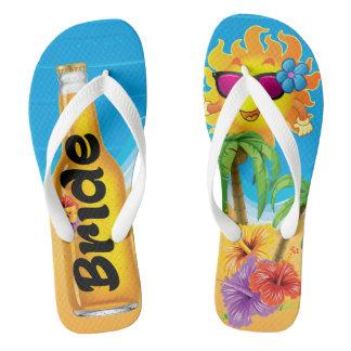 Bride Beach Honeymoon Flip Flops