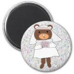 bride bear magnet