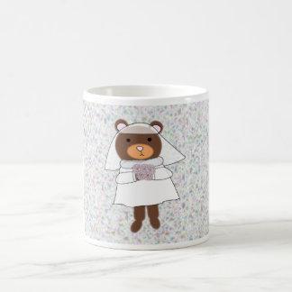 bride bear mug