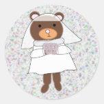 bride bear sticker