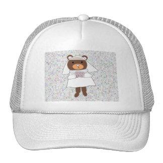 bride bear trucker hat