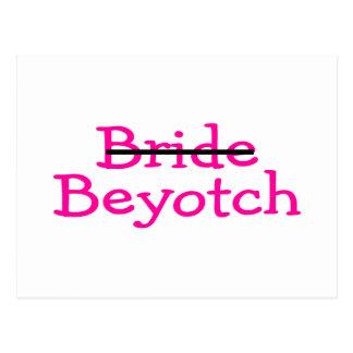 Bride Beyotch Pink Postcard