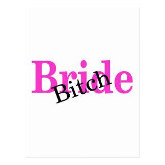 Bride Bitch Postcard
