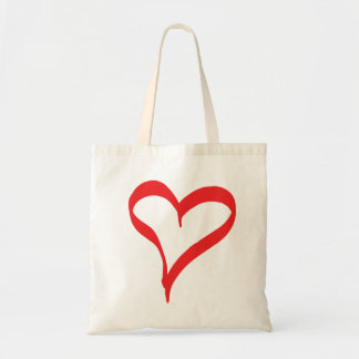 Bride Black And Red Love Hearts Wedding Typography Tote Bag