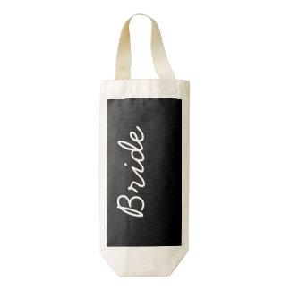 Bride Black And White Customizable Zazzle HEART Wine Bag