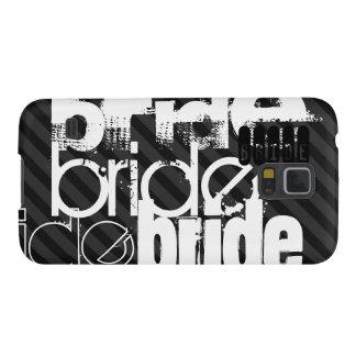 Bride; Black & Dark Gray Stripes Galaxy S5 Covers