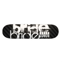 Bride; Black & Dark Gray Stripes Skateboard Deck