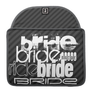 Bride; Black & Dark Gray Stripes Sleeves For MacBooks