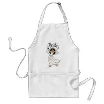 Bride (Black Hair) Adult Apron