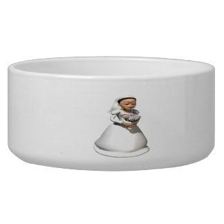 Bride Black Hair Dog Bowl