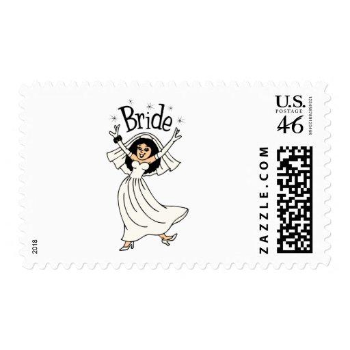 Bride (Black Hair) Postage Stamps