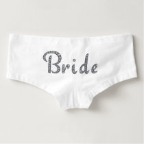 Bride bling boyshorts