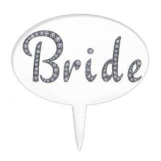 Bride bling cake topper