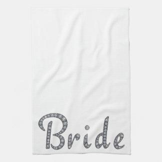 Bride bling kitchen towel