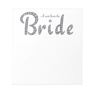 Bride bling notepad
