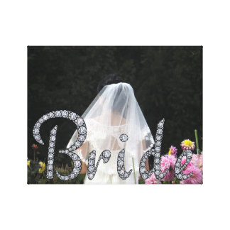 Bride bling photo wrapped canvas canvas print
