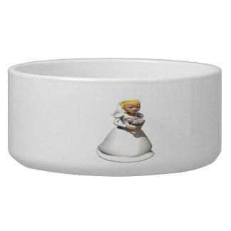 Bride Blonde Dog Bowls