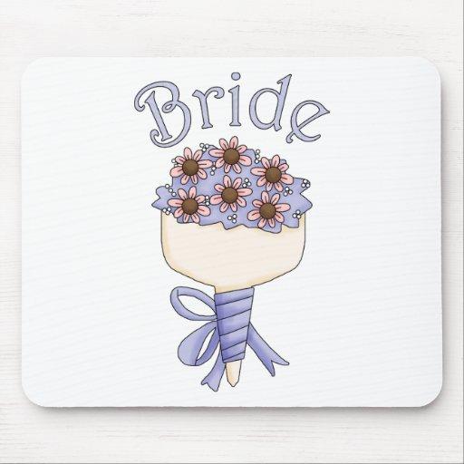 Bride Blue Text Mousepad
