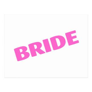 Bride (Bold Pink) Postcard