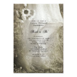 Bride, Boots and Sunflowers Country Bridal Shower Personalized Announcement