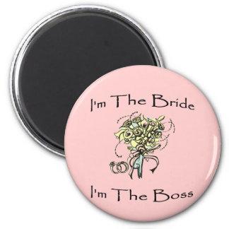 Bride Boss 2 Inch Round Magnet